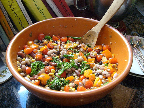corn-bean-tomato-broccolini-salad