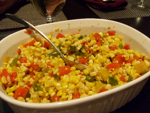 corn-with-smoked-salt-and-three-bell-peppers