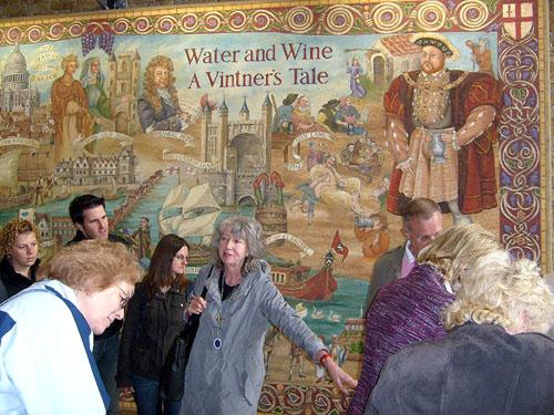 ann the tour guide in vinopolis