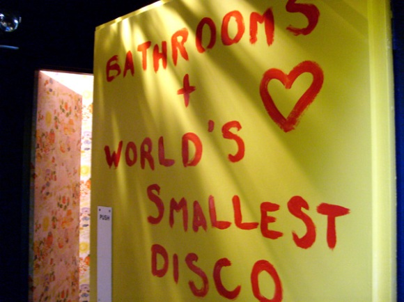 bathrooms and the worlds smallest disco