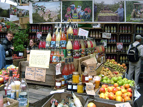 borough market apple juices