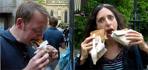 eamon and michelle eat toasted cheese