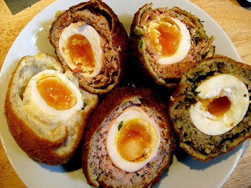 five kinds of scotch egg