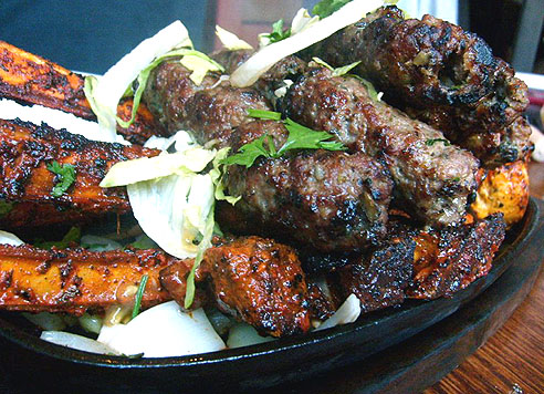 lamb chop and kebab from tayyabs