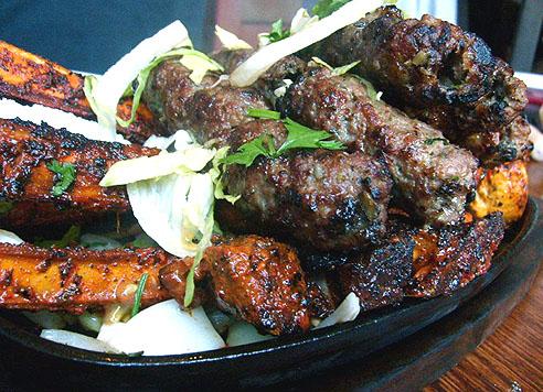 lamb chop and kebab from tayyabs