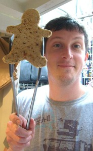 breadman holding breadman