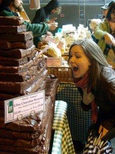 chocolate brownie mountain