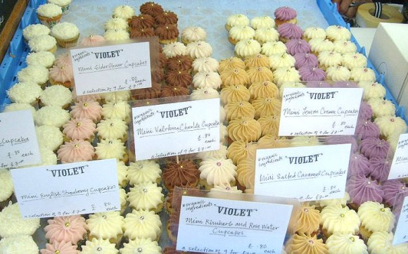 huge cupcake spread