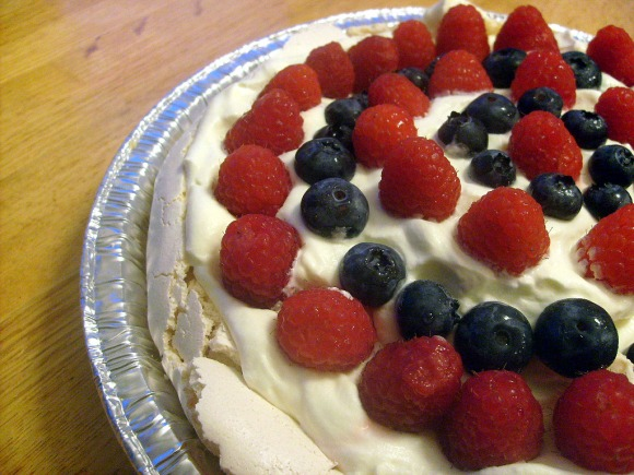 ginger meringue and berries