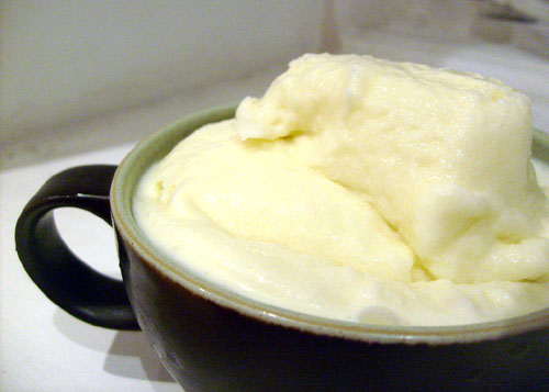 homemade ginger ice cream made by hand