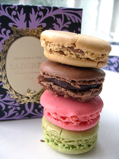 macaroons from laduree in paris