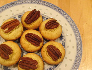 plate of orange pecan cookies