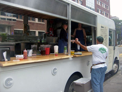the clover food truck at MIT