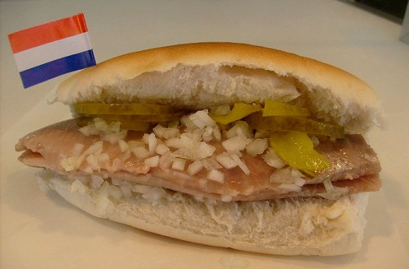 fresh herring in a bun