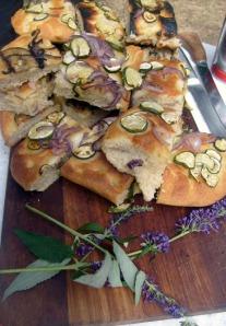roasted vegetable focaccia bread