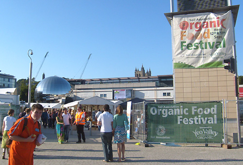 entering the organic food festival