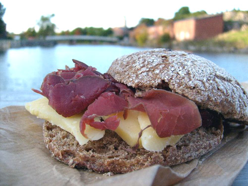 finnish cheese and smoked reindeer on suomenlinna island