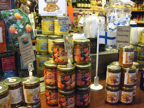 finnish jams and jellies and syrups