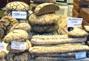 lots of rye bread