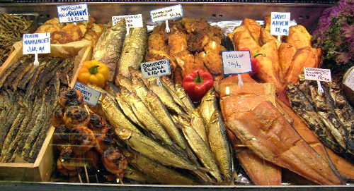 other fish for sale at the market