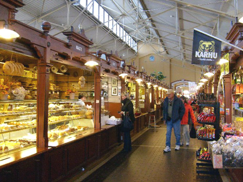 the long aisles of old market hall